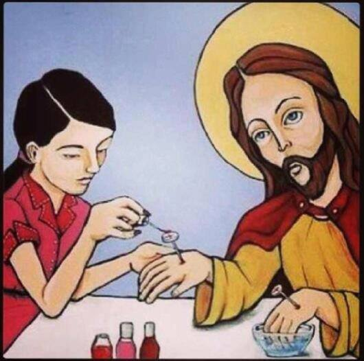 jesus_getting_his_nails_painted